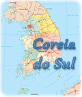 Mapa Coreia do Sul