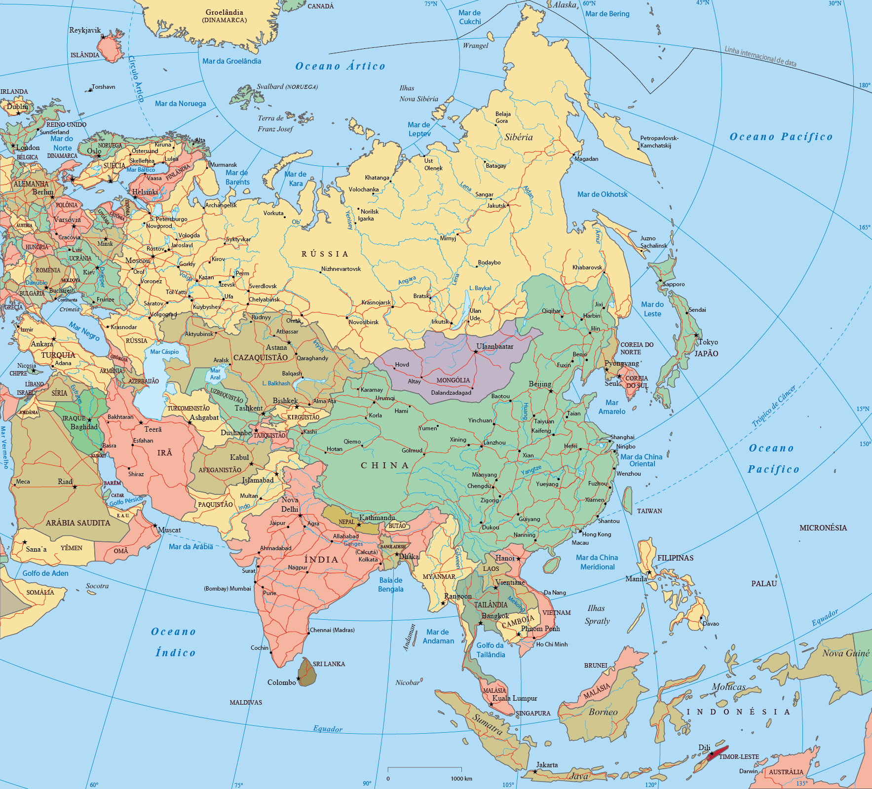 Mapa Politico da Asia