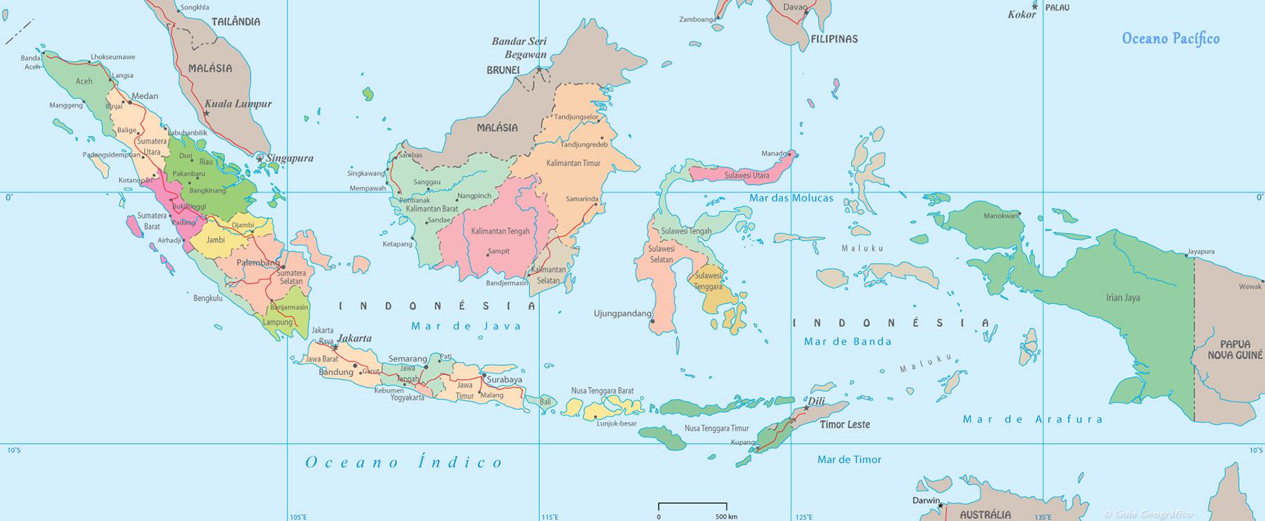 Mapa Político da Indonésia