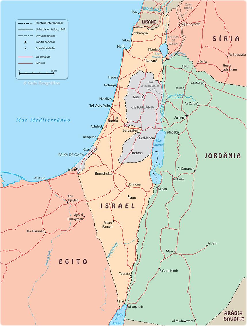 Mapa De Israel Oriente Medio