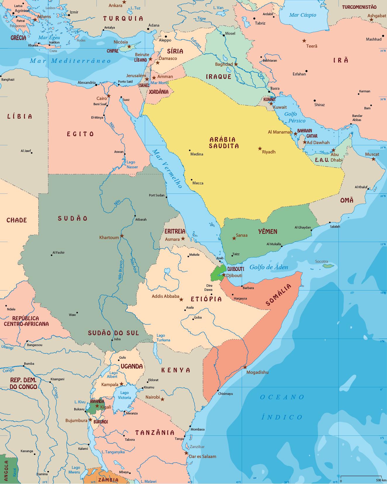 Mapa Geográfico Da Síria Interativo